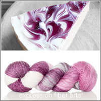 BLACKBERRY CHEESECAKE SUPERWASH MERINO SILK PEARLESCENT FINGERING