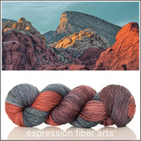 RED ROCK SUNSET 'RESILIENT' SUPERWASH MERINO SOCK