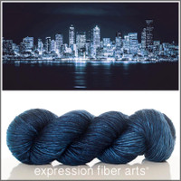 SEATTLE AT NIGHT SUPERWASH MERINO SILK PEARLESCENT WORSTED