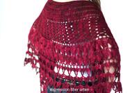 Red Velvet Rose Wrap Crochet Pattern