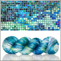 Pre-Order MOSAIC TILE MERINO SILK PEARLESCENT FINGERING For PoP Charity