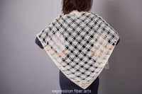 Misty Morning Triangle Crochet Shawl Pattern
