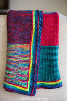 Love Rainbow Knitted Blanket Pattern