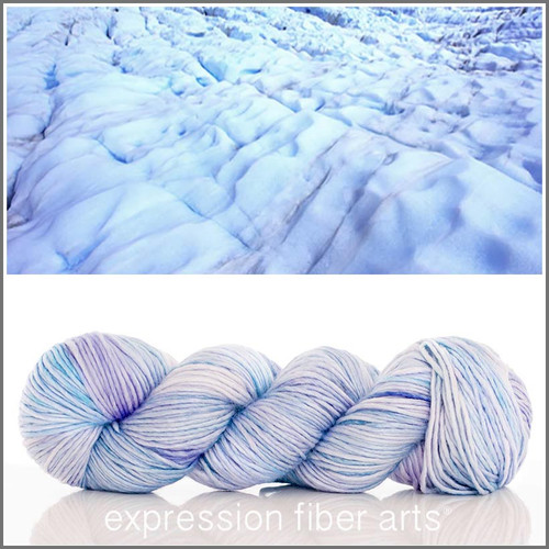 GLACIER FREEZE SUPERWASH MERINO SILK PEARLESCENT WORSTED
