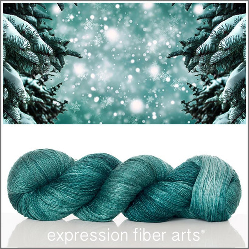 SPRUCE YAK SILK LACE YARN