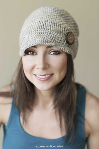 Buttoned Emma Hat Crochet Pattern