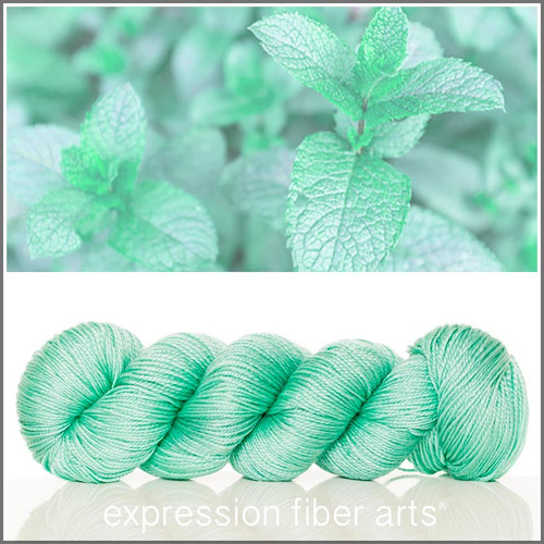Pre-Order SPEARMINT 'LUSTER' SUPERWASH MERINO TENCEL SPORT