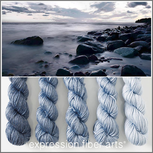 ROCKY SHORE HUES 'LUSTER' WORSTED MINI GRADIENT KIT