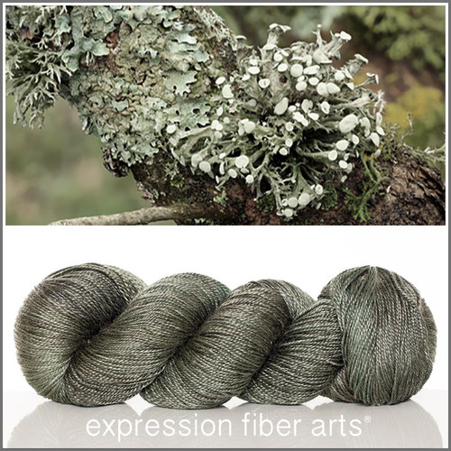 LICHEN 'LUSTER' SUPERWASH MERINO TENCEL SPORT