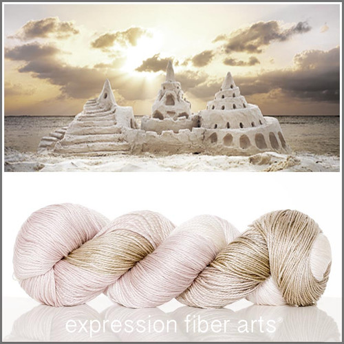 SANDCASTLE 'LUSTER' SUPERWASH MERINO TENCEL SPORT