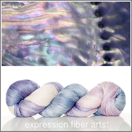 MOTHER OF PEARL YAK SILK LACE YARN