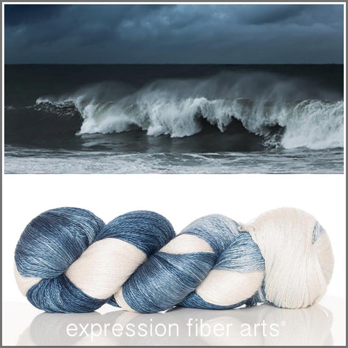 CRASHING WAVES YAK SILK LACE YARN