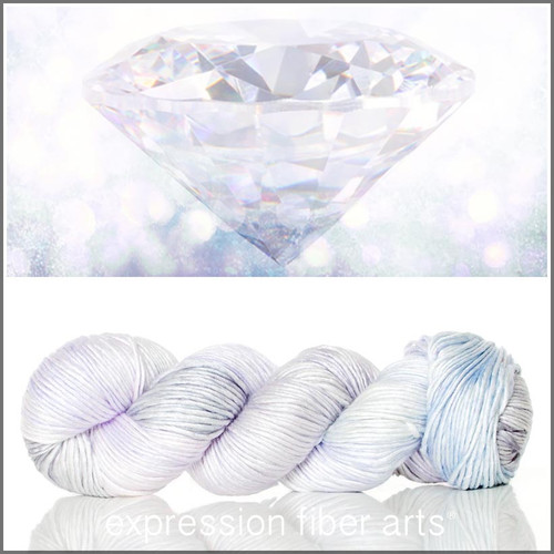 APRIL DIAMOND SUPERWASH MERINO SILK PEARLESCENT WORSTED