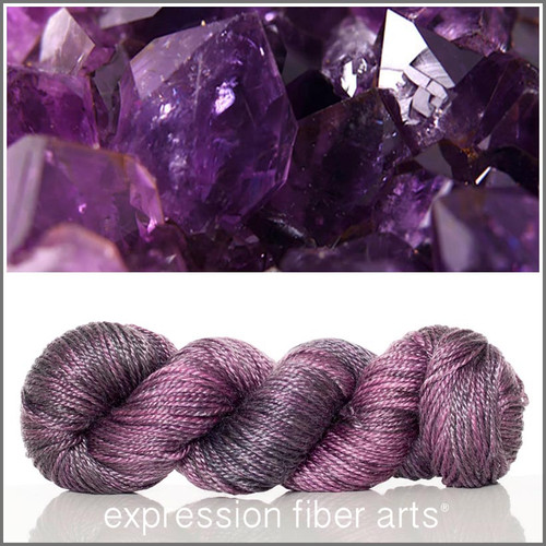 FEBRUARY AMETHYST 'LUSTER' SUPERWASH MERINO TENCEL WORSTED