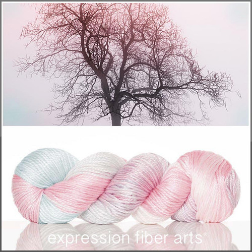 PINK FROST 'LUSTER' SUPERWASH MERINO TENCEL WORSTED