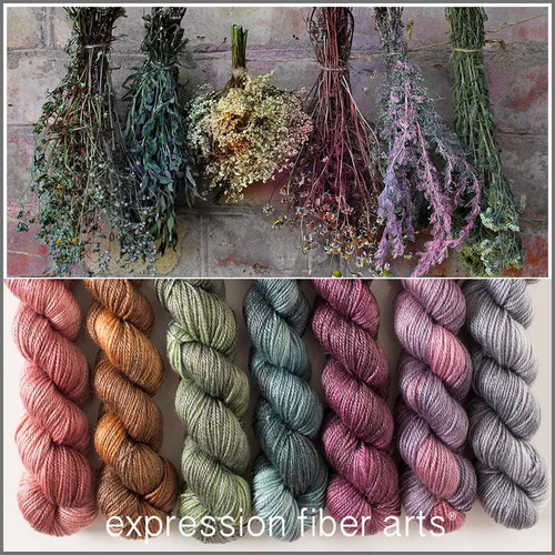 DRIED HERB HUES 'LUSTER' WORSTED MINI GRADIENT KIT