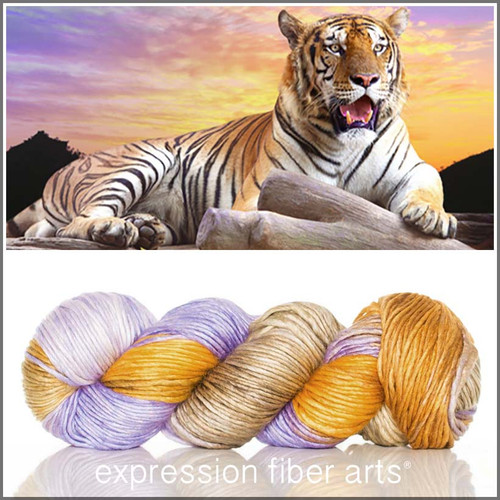 TIGER SUPERWASH MERINO SILK PEARLESCENT WORSTED