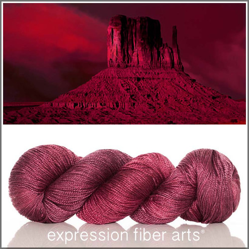 FIREKISSED 'LUSTER' SUPERWASH MERINO TENCEL SPORT