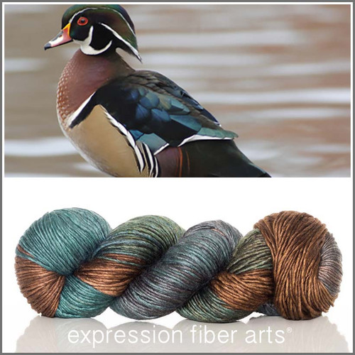 WOOD DUCK SUPERWASH MERINO SILK PEARLESCENT WORSTED
