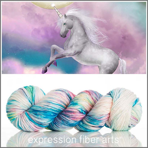 UNICORN SPRINKLES SUPERWASH MERINO SILK PEARLESCENT WORSTED