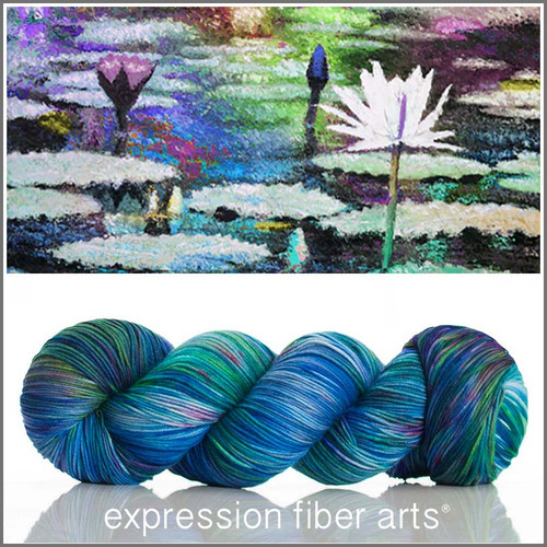 Pre-Order WATER LILIES 'RESILIENT' SUPERWASH MERINO SOCK