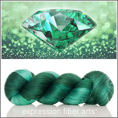 MAY EMERALD YAK SILK LACE YARN