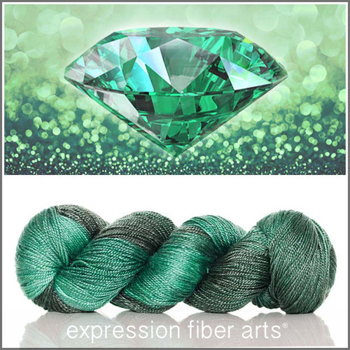 MAY EMERALD 'LUSTER' SUPERWASH MERINO TENCEL SPORT
