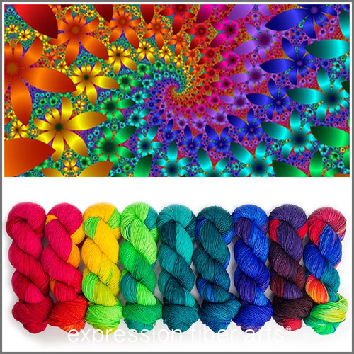 Pre-Order EPIC RAINBOW KIT 'RESILIENT' SUPERWASH MERINO SOCK
