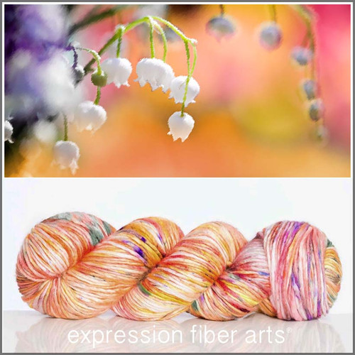 Pre-Order MAY LILY OF THE VALLEY SUPERWASH MERINO SILK PEARLESCENT WORSTED