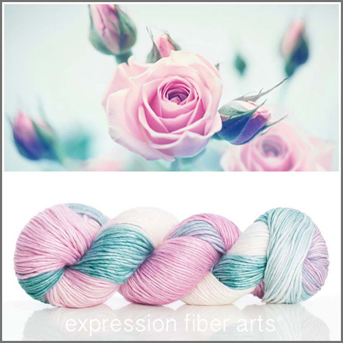 Pre-Order JUNE ROSE SUPERWASH MERINO SILK PEARLESCENT WORSTED