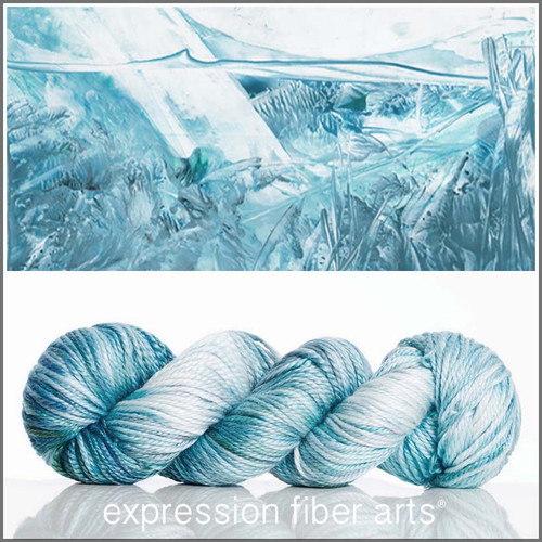 ICE 'LUSTER' SUPERWASH MERINO TENCEL WORSTED