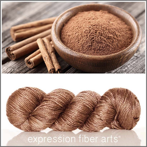 Pre-Order CINNAMON 'LUSTER' SUPERWASH MERINO TENCEL WORSTED