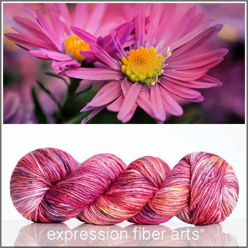 Pre-Order SEPTEMBER ASTER SUPERWASH MERINO SILK PEARLESCENT WORSTED