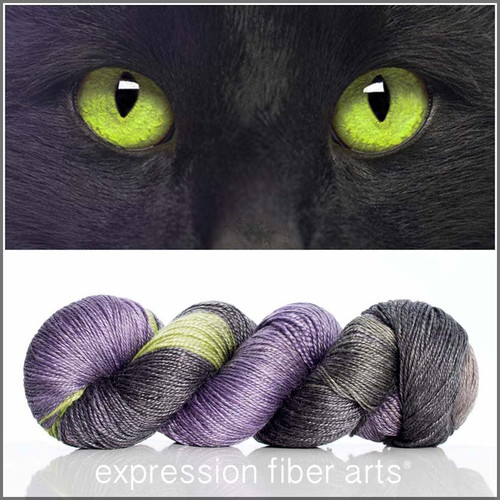 CAT EYE 'LUSTER' SUPERWASH MERINO TENCEL SPORT