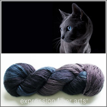 RUSSIAN BLUE PEARLESCENT SILK WORSTED