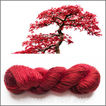 RED BONSAI PEARLESCENT SILK WORSTED