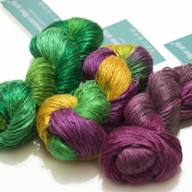 3 SKEIN KIT PEARLESCENT SILK WORSTED