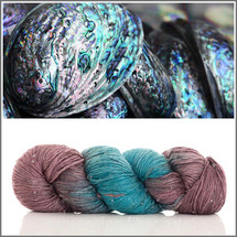 ABALONE SHELL BEADED SILK WORSTED