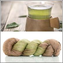 GREEN TEA SHIMMER SILK FINGERING