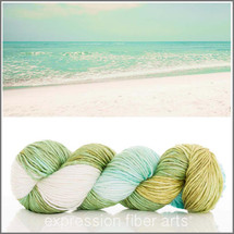 WHITE SAND BEACH 2 SUPERWASH MERINO SILK PEARLESCENT WORSTED