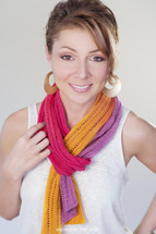 Sail Into The Sunset Free Knitted Scarf Pattern