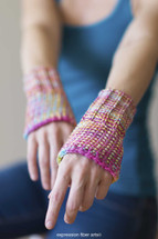 Writer's Wristies Free Knitted Pattern