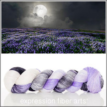 MEADOW AT MIDNIGHT SHIMMERING CASHMERE FINGERING