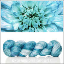 BLUE BLOSSOM SUPERWASH MERINO SILK PEARLESCENT FINGERING