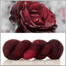 RED VELVET ROSE 'RESILIENT' SUPERWASH MERINO SOCK