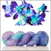 ORCHID HUES SUPERWASH MERINO SILK PEARLESCENT WORSTED