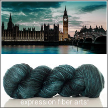 LONDON AT NIGHT SUPERWASH MERINO SILK PEARLESCENT WORSTED