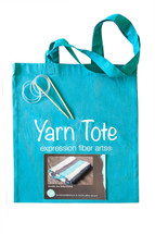 Teal Yarn Tote + Needles + Unending Love Pattern - Free w/Purchase only