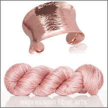 ROSE GOLD 'LUSTER' SUPERWASH MERINO TENCEL WORSTED