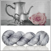 STERLING SILVER SUPERWASH MERINO SILK PEARLESCENT FINGERING